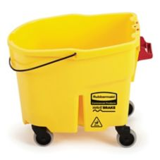 Rubbermaid FG757088YEL WaveBrake Yellow 35 Qt Mop Bucket with Casters