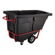 Rubbermaid Black Rotomolded Standard Duty 1/2 cu yd Tilt Truck