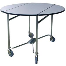 Lakeside® 412 Gray Sand Laminate Folding Room Service Table