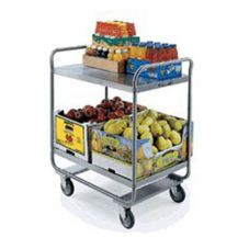 Lakeside® S/S 500 Pound Capacity 2-Shelf Tubular Utility Cart