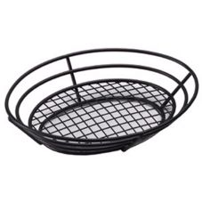"Clipper Mill 4-38814 8"" x 11"" Black Powder Coated Basket"