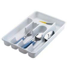 Rubbermaid® FG2919RDWHT White 5-Compartment Plastic Cutlery Tray