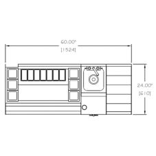 Perlick® UCS60B 60 X 24 Cocktail Station with Blender and Sink