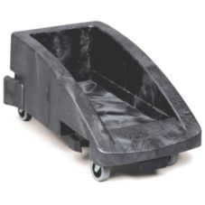 Rubbermaid® Slim Jim® Black Linking Trolley