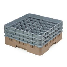 Cambro 49S638184 Beige 49 Compartment Full Size Camrack Glass Rack