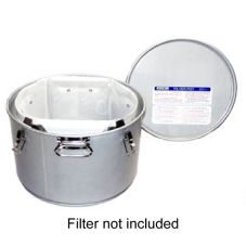 Miroil 55 Lb. Grease Bucket / Filter Pot with Lid