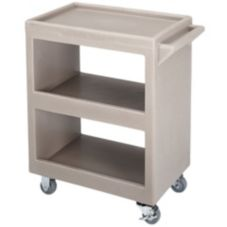 Cambro® BC225180 Light Gray Open Side 3-Shelf Service Cart