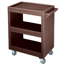 Cambro® BC225131 Dark Brown Open Side 3-Shelf Service Cart