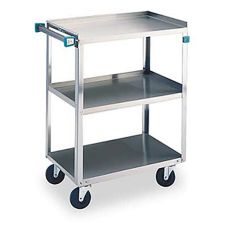 Lakeside® 411 S/S 500 lb Capacity 3-Shelf Cart With Swivel Casters