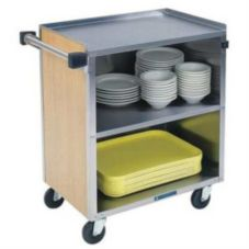Lakeside® 622 Walnut Laminate / S/S Three Shelf Utility Cart