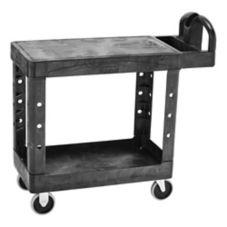 "Rubbermaid® FG450500BLA Flat Shelf 38 x19 x 33"" Utility Cart"
