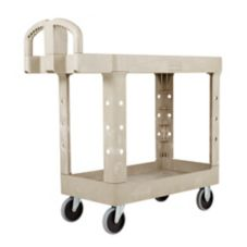 "Rubbermaid Beige Flat Shelf Utility Cart, 38"" x 19"""