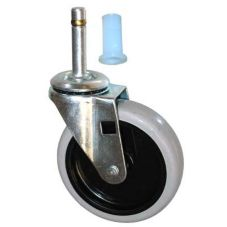 "SpecialMade® 3424-L6 Gray 4"" Swivel Caster With Insert"