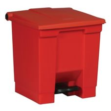 Rubbermaid® FG614300RED Red 8 Gal Step-On Container