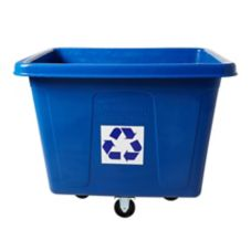 Rubbermaid Blue 16 cu ft Recycling Cube Truck