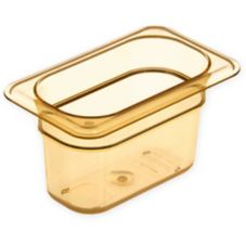 Top Notch® 1/9 Size Food Pan, Amber, 1 Qt