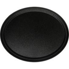 Carlisle® 2500GR004 Griptite® Black Oval Beverage Tray