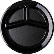 Carlisle® PCD21103 3-Compartment Black Plate
