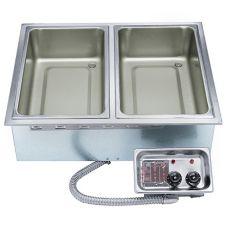 APW Wyott HFW-2D Electric 2-Pan Drop-In Hot Food Well Unit w/ EZ-Lock
