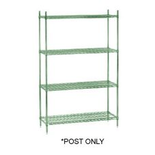 Epoxy Coated Metal Post For Wire Shelving, Green, 74""