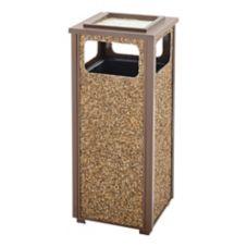 Rubbermaid® FGR12SU201PL Aspen Brown 12 Gal Trash Can w/ Sand Urn