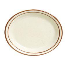"""Tuxton® TBS-013 11-1/2"""" Eggshell Oval Platter - 12 / CS"""