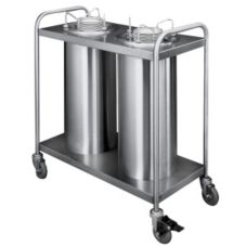 "APW Wyott TL2-9A/12A Mobile Adjustube II 9-1/8"" Plate Dispenser"