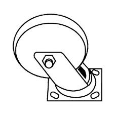 Special Made 7932-L2 Swivel Caster For 4471 Cart