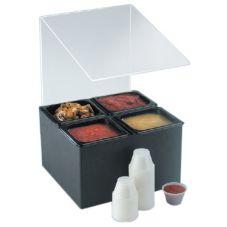 """Cal-Mil® 658 Acrylic 14 x 15 x 20"""" Salsa / Condiment Bar"""