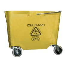 Impact® 26-35 Qt. Yellow Bucket with Casters