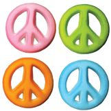 Lucks™ 14302 Dec-Ons® Peace Sign Assortment - 80 / BX