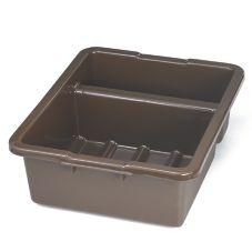 "TableCraft 1547BR 22"" Brown Heavy Duty Divided Tote Box"