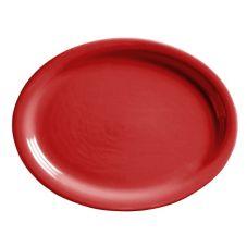 World Tableware MB-13NR-R Montego Bay Red NR Oval Platter - 12 / CS