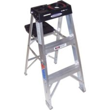 Step Ladder, Aluminum, 3'
