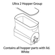 BUNN® 34000.0200 White Ultra-2 Gourmet Replacement Hopper