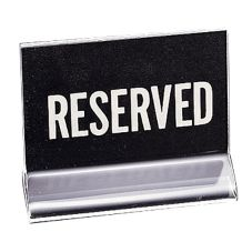"Cal-Mil 500 Clear Acrylic Holder with ""Reserved"" Sign"