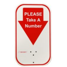 Sato Labeling Solutions 106000100 Red Take-a-Number Sign