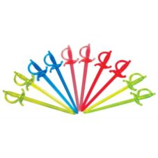 Goldmax Assorted Neon Plastic Sword Picks
