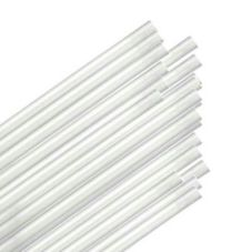 "Cello-O-Core 5-3/4"" Clear Jumbo Unwrapped Straws"