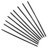 "Spirit™ Black Plastic Giant Unwrapped 12"" Straws"