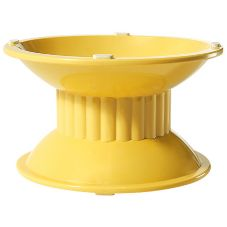 "G.E.T.® ML-106-TY Tropical Yellow 4"" High Pedestal"