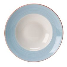 "Steelite 15310365 Rio Blue 11-3/4"" Nouveau Bowl - 6 / CS"