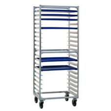 New Age 1330S Aluminum 30 Pan Capacity Bun Pan Rack with Open Sides