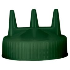 Vollrath 3300-191 Traex Green Tri-Tip Cap for 24 Oz Wide Mouth Bottle