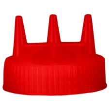 Vollrath 3300-02 Traex Red Tri-Tip Cap for 24 Oz Wide Mouth Bottle