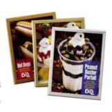 Marketing Displays 8114SA PosterGrip® Satin Silver Value Frame