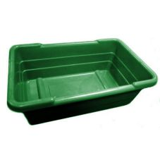 "Hi-Line Plastics 014635E Crosstack Green 15.5"" x 25"" x 8.75"" Bus Box"