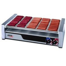 APW Wyott HR-45 Large HotRod® Flat Hot Dog 16-Roller Grill