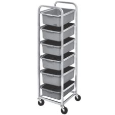 Channel BBC-6 Aluminum 6-Level Bus Box Cart