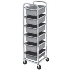Channel BBC-6 Aluminum 6-Level Bus Box Cart